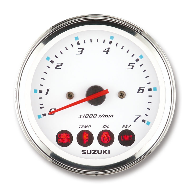 Tachometer With Caution Alert Indicators (White)