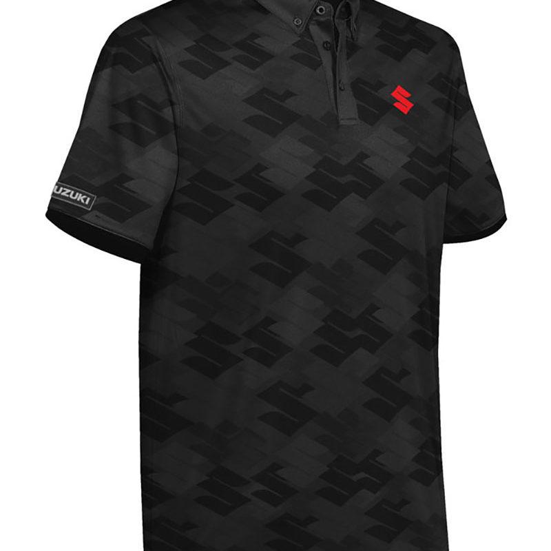 Suzuki 'S' Pattern Polo Shirt