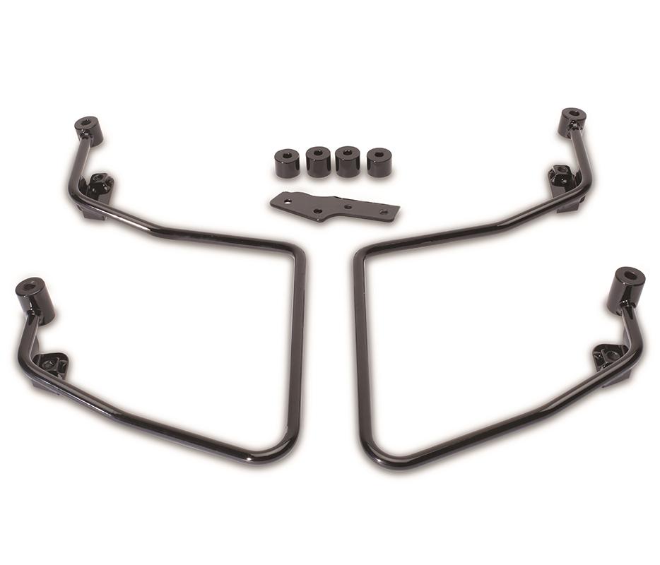 Saddlebag Support Set Black (Mounting Bars)