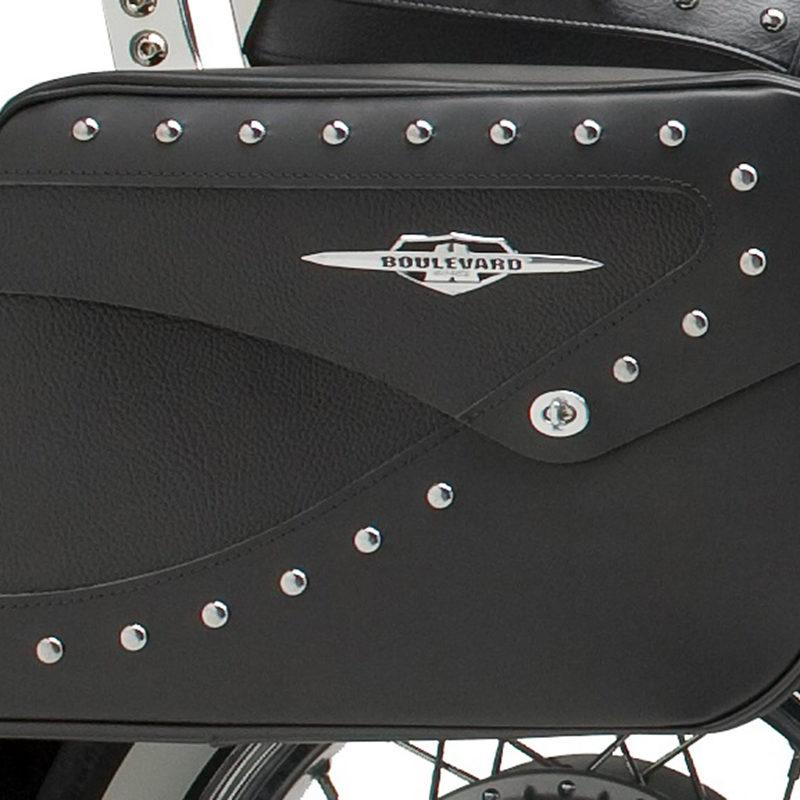 Studded Leather Touring Saddlebags
