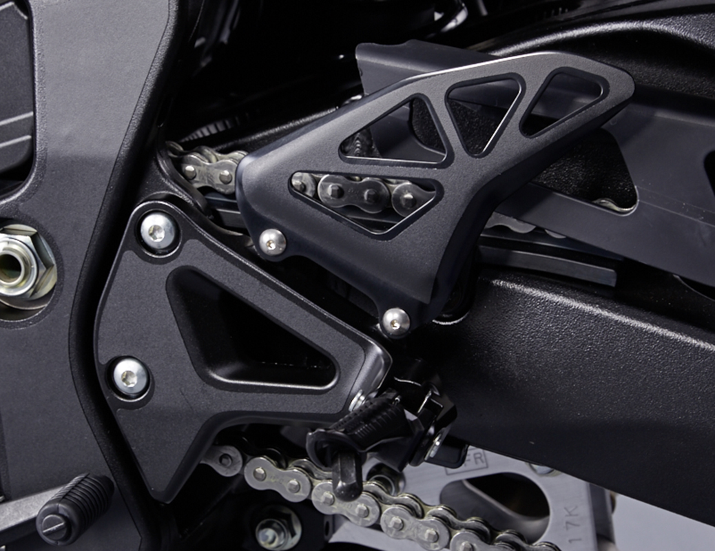 Heel plate and swing arm protection sticker set