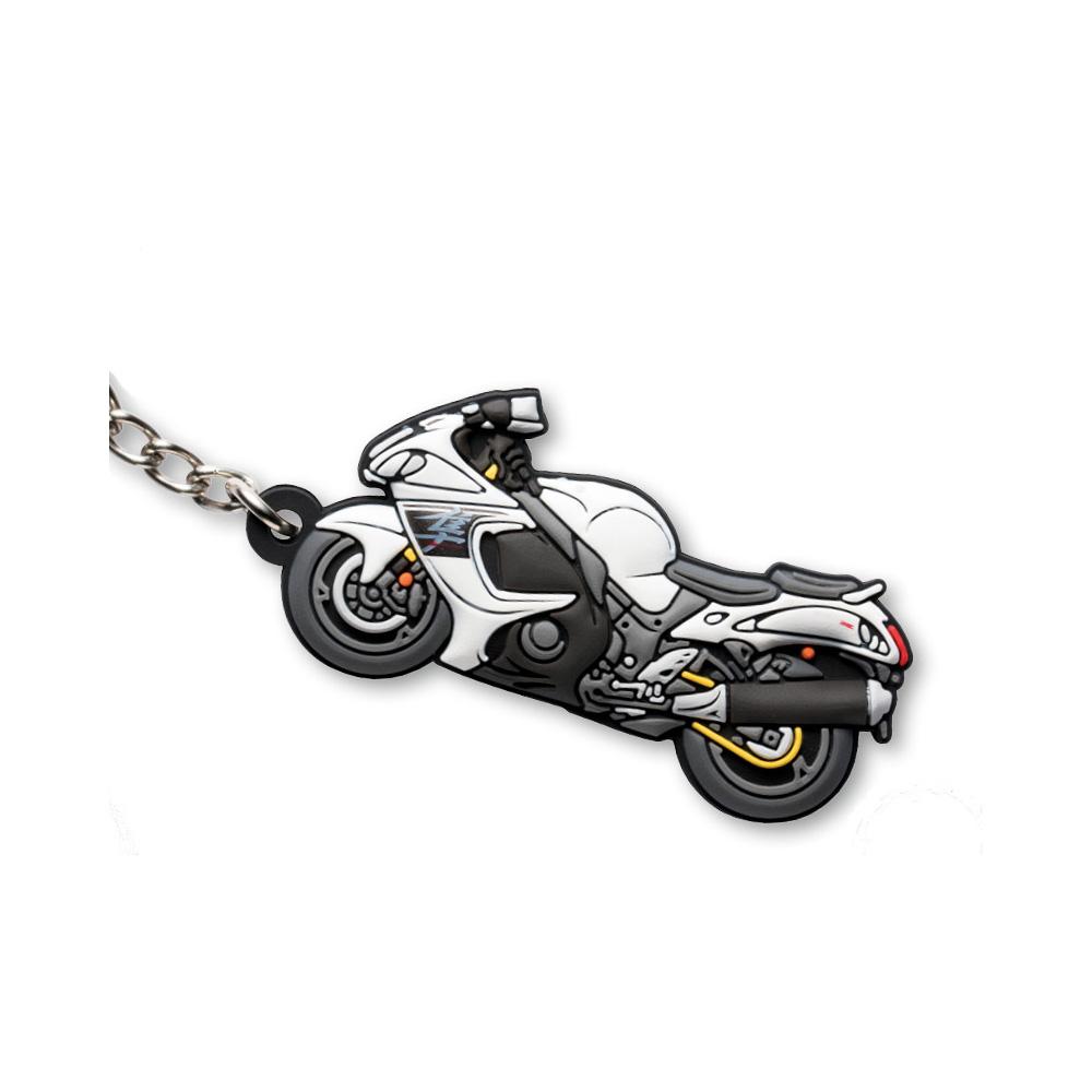 Motorcycle Key Chain- HAYABUSA White